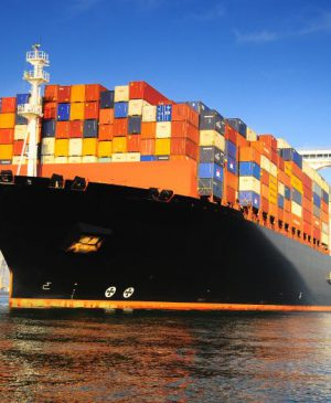 orange-black-loaded-container-ship-harbour